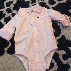 Baby Dress Shirt Onesie